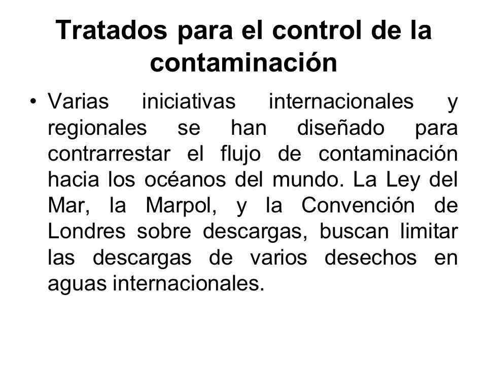 Tratados para el control de la contaminación