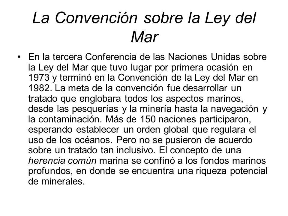 La Convención sobre la Ley del Mar