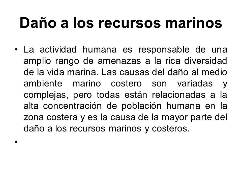 Daño a los recursos marinos