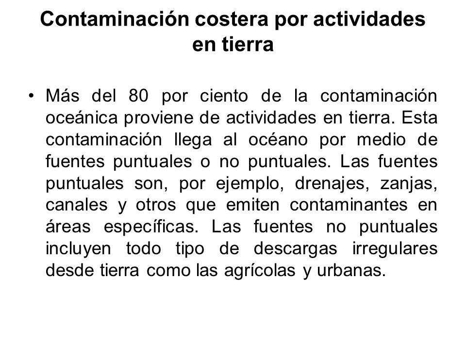 Contaminación costera por actividades en tierra