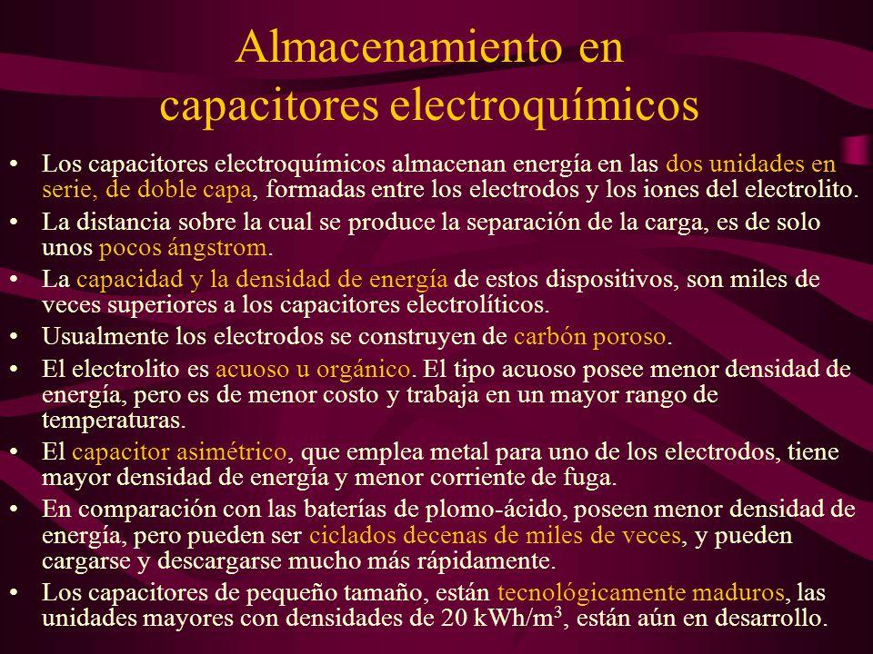 Almacenamiento en capacitores electroquímicos