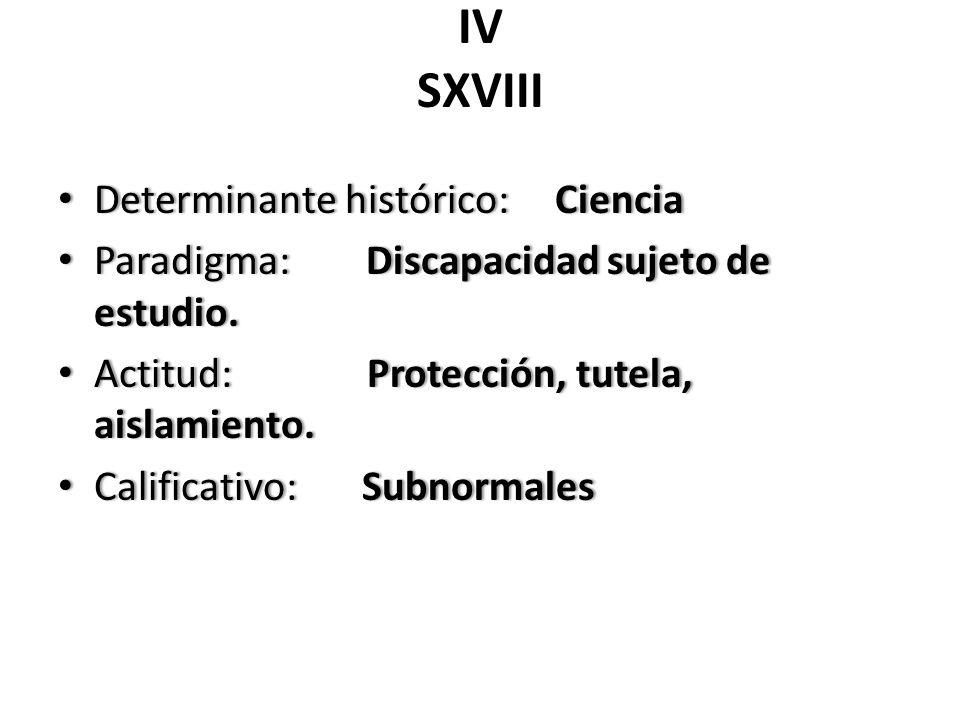 IV SXVIII Determinante histórico: Ciencia