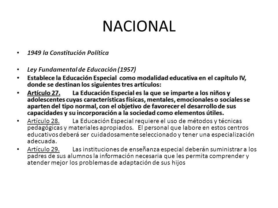 NACIONAL 1949 la Constitución Política