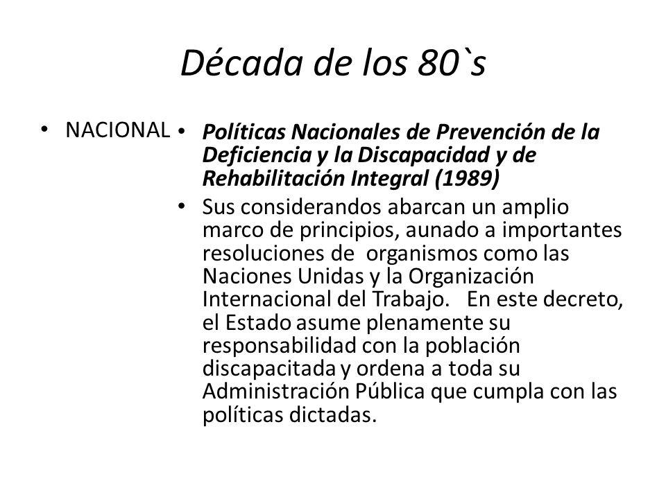 Década de los 80`s NACIONAL