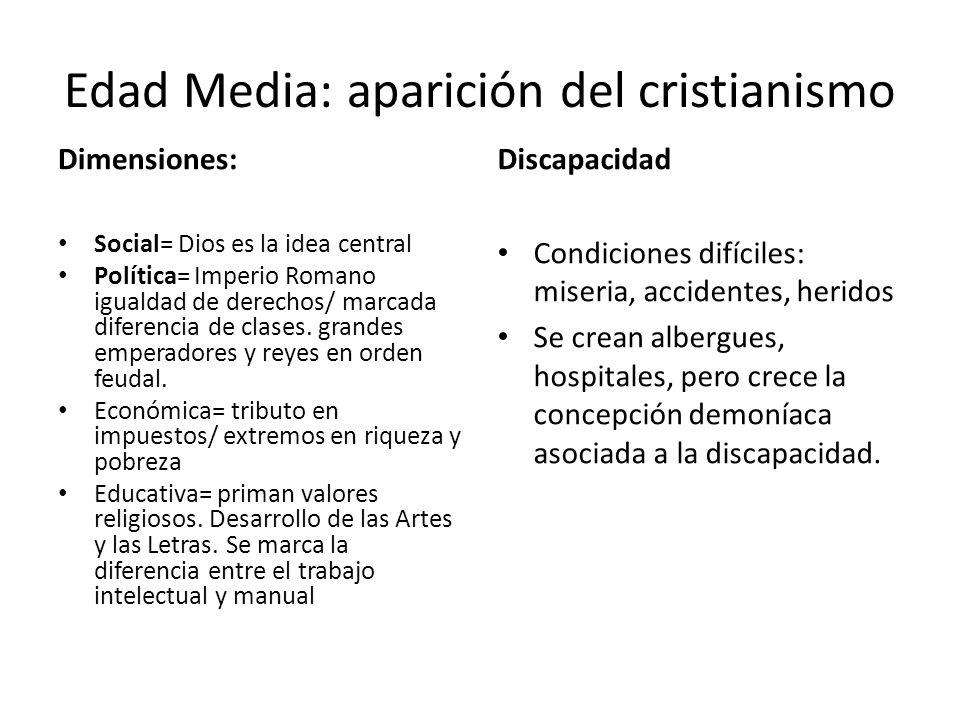 Edad Media: aparición del cristianismo