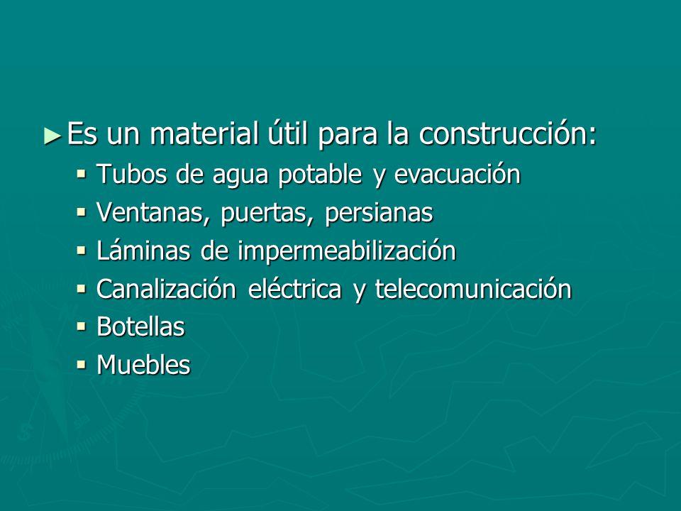 Es un material útil para la construcción: