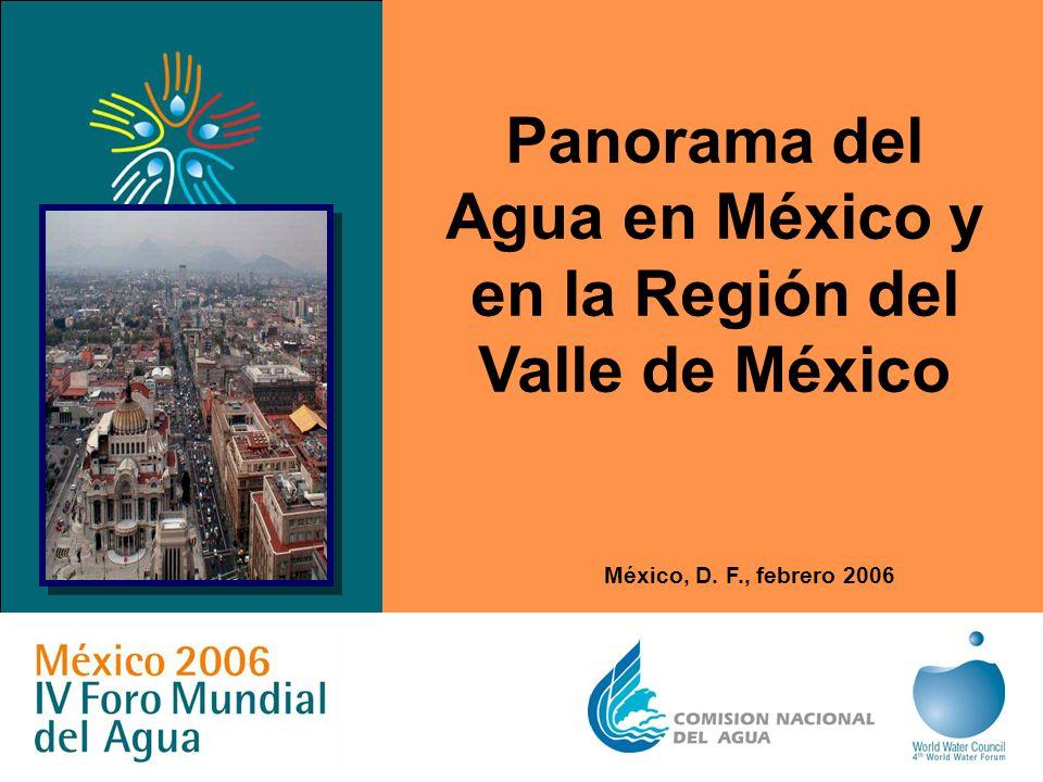 Panorama del Agua en México y en la Región del Valle de México