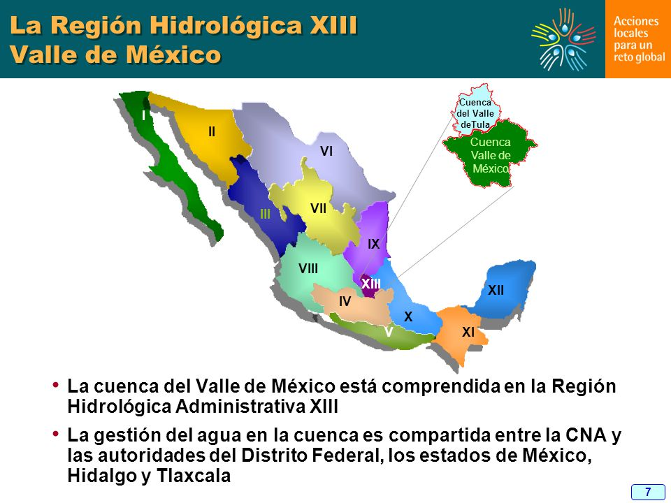 La Región Hidrológica XIII Valle de México