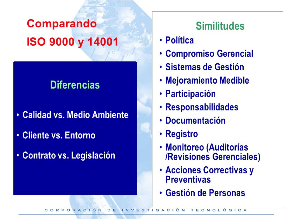 Similitudes Diferencias