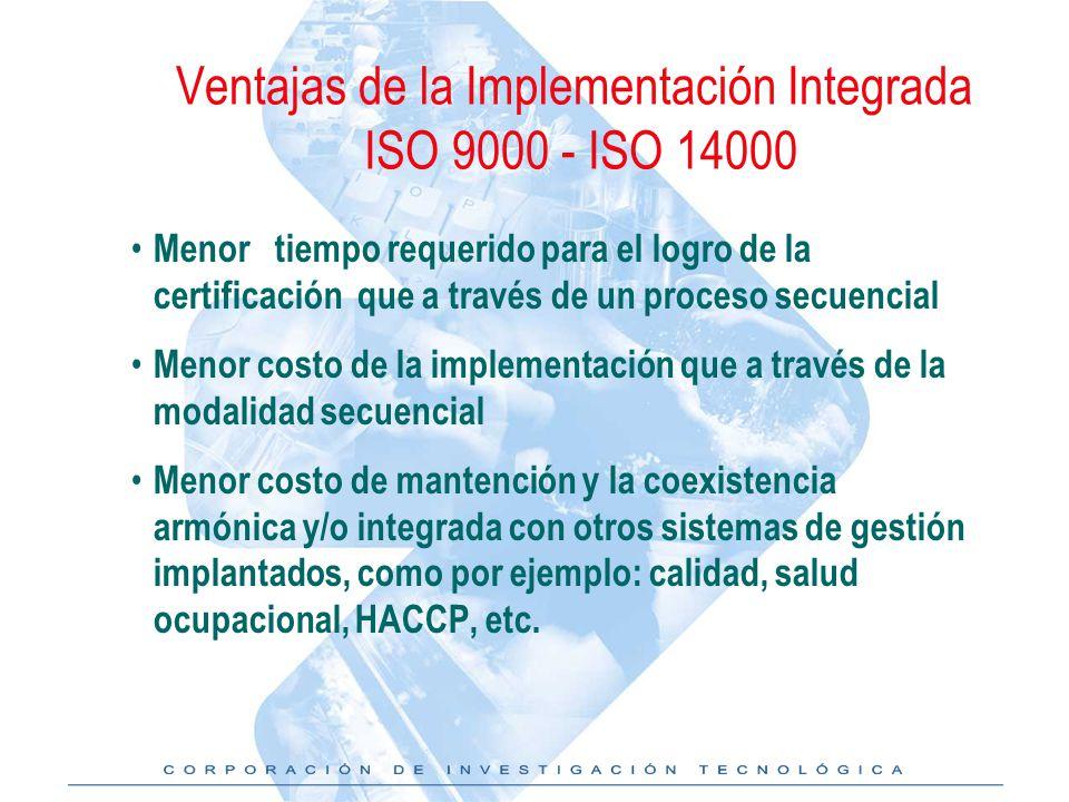 Ventajas de la Implementación Integrada ISO 9000 - ISO 14000