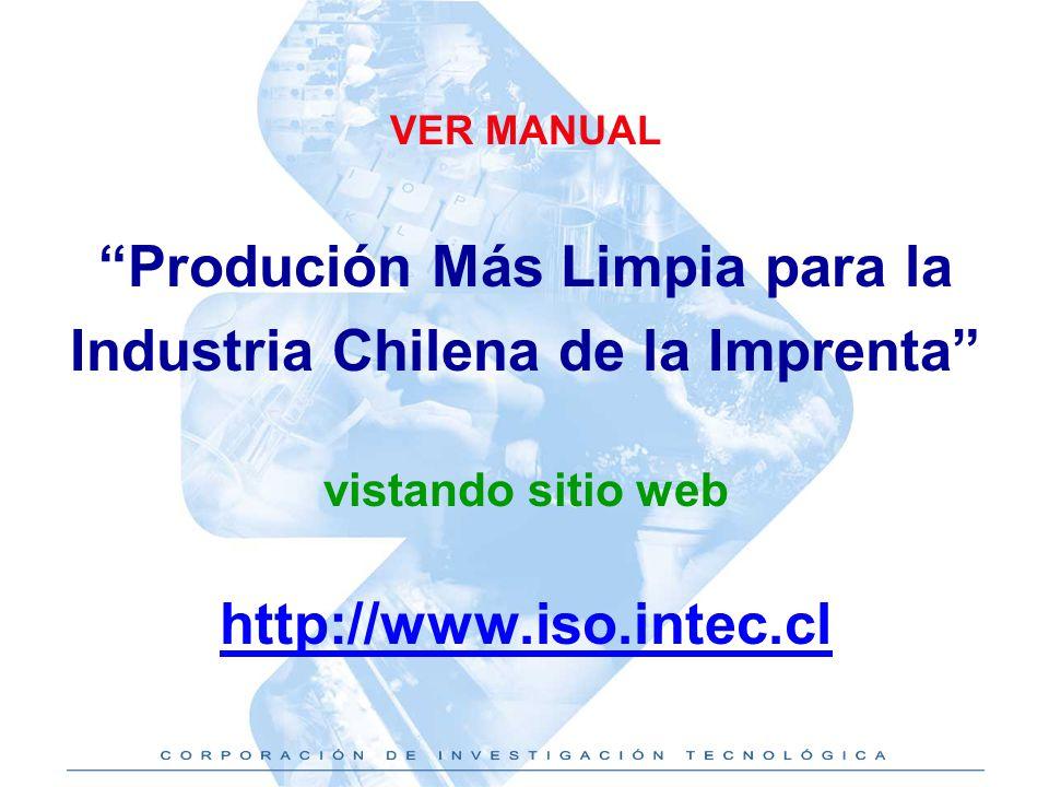 Produción Más Limpia para la Industria Chilena de la Imprenta