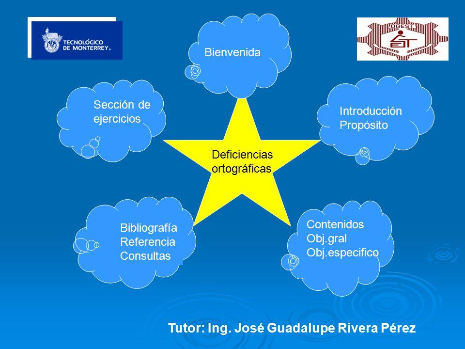 Tutor: Ing. José Guadalupe Rivera Pérez