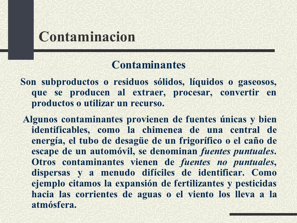 Contaminacion Contaminantes