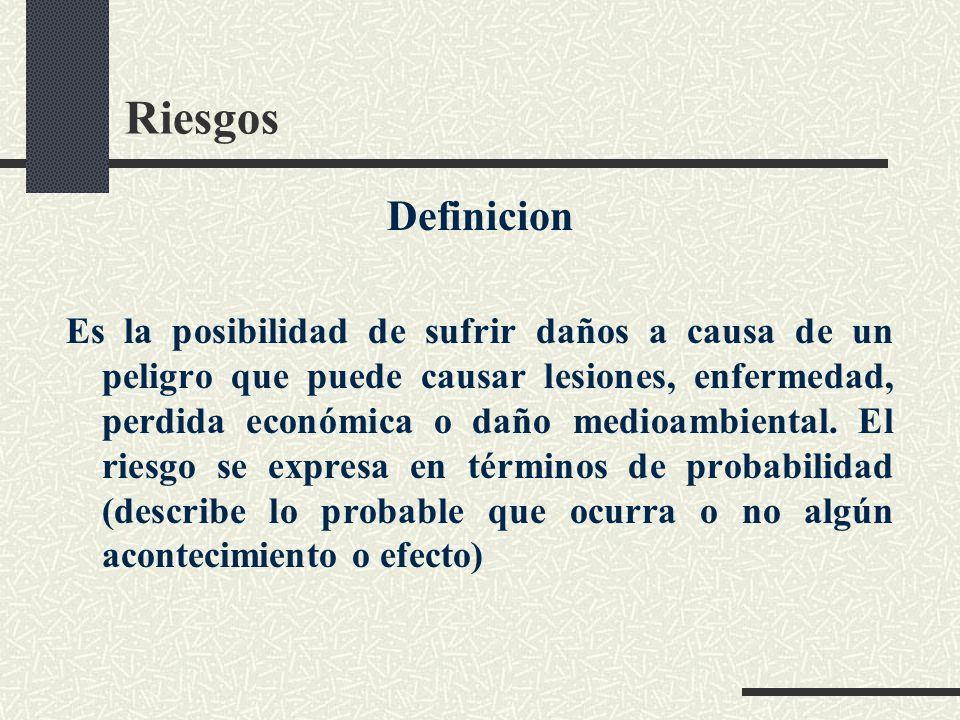 Riesgos Definicion.