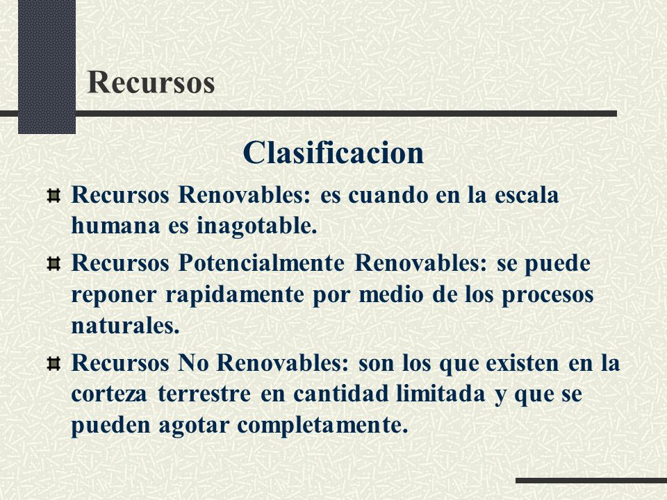 Recursos Clasificacion