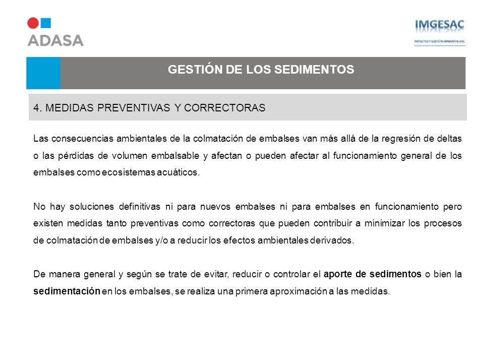 GESTIÓN DE LOS SEDIMENTOS