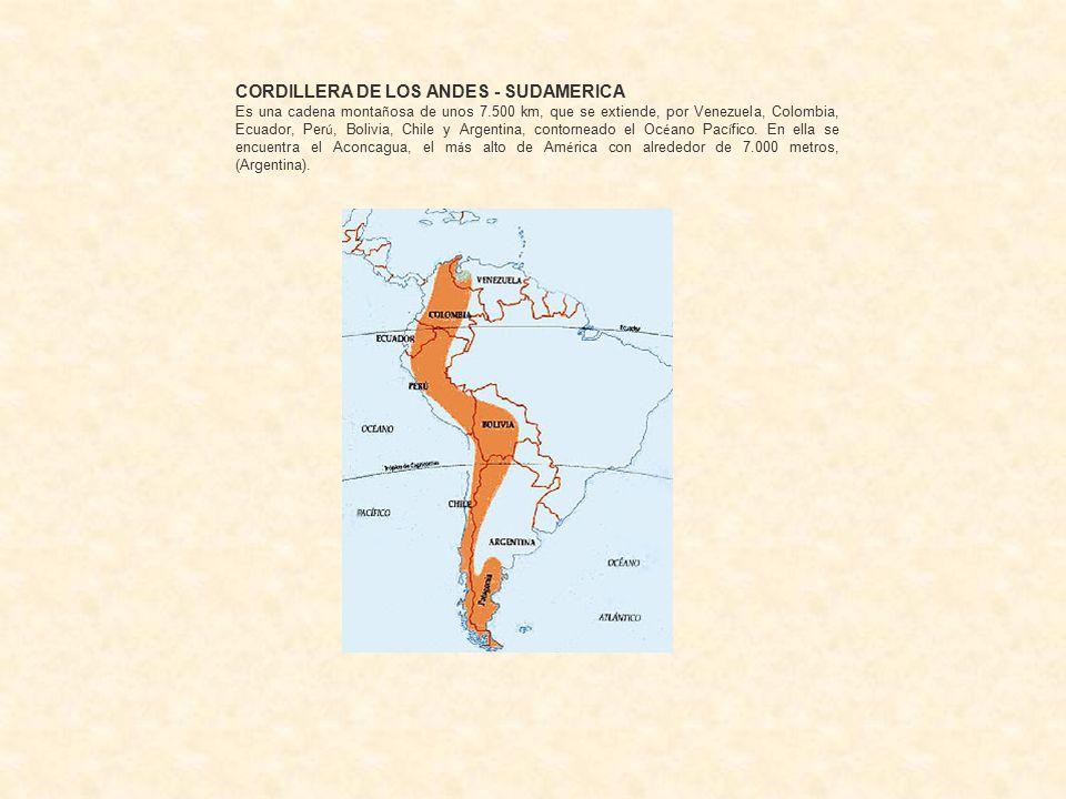 CORDILLERA DE LOS ANDES - SUDAMERICA