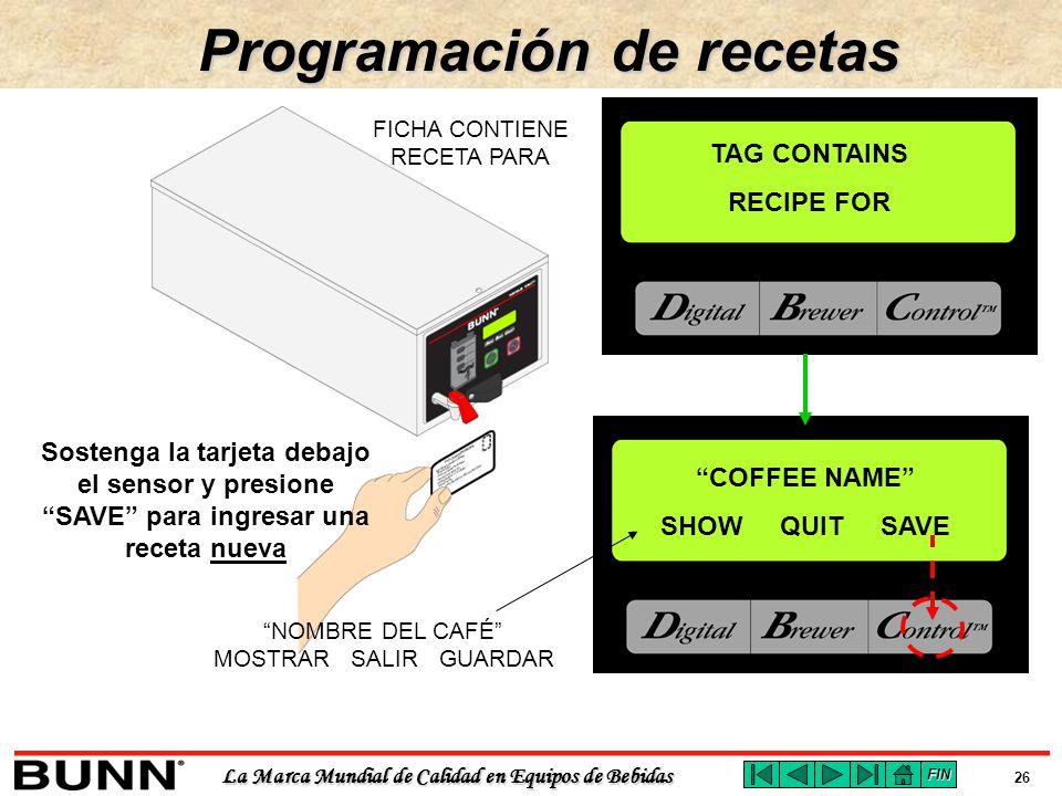 Programación de recetas