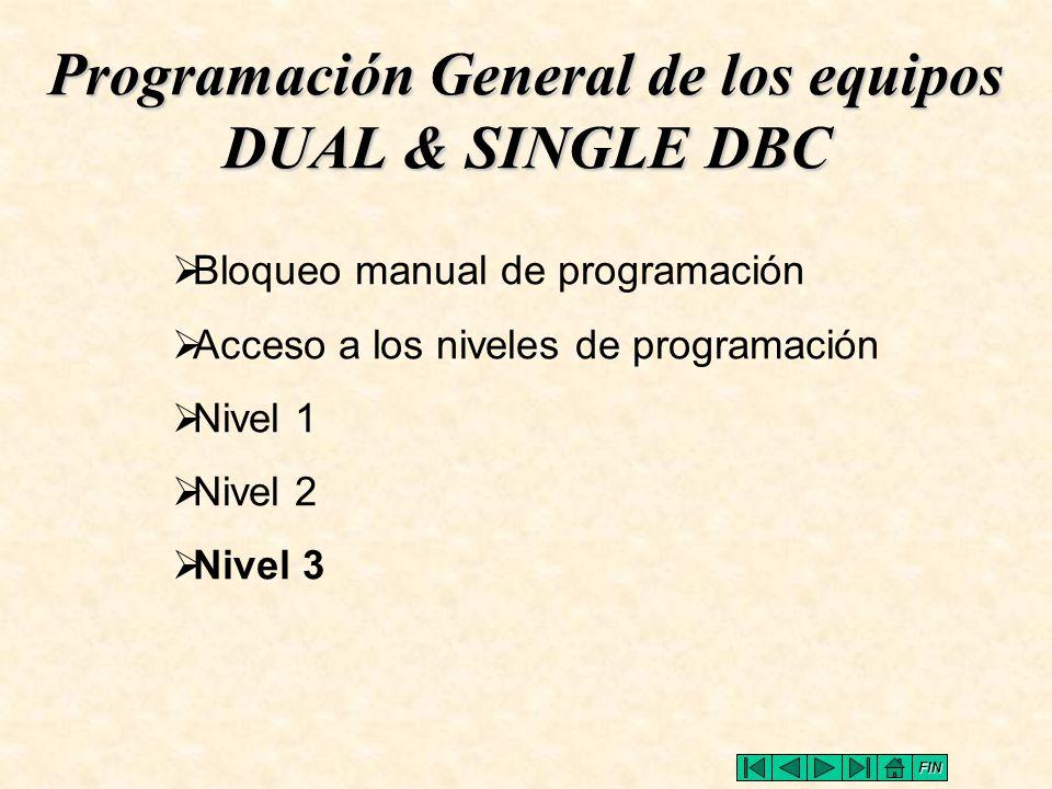 Programación General de los equipos DUAL & SINGLE DBC