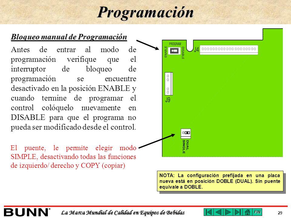 Bloqueo manual de Programación