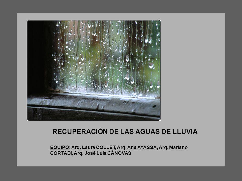 RECUPERACIÓN DE LAS AGUAS DE LLUVIA