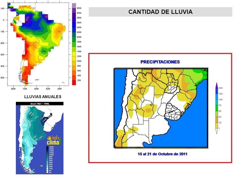 CANTIDAD DE LLUVIA LLUVIAS ANUALES