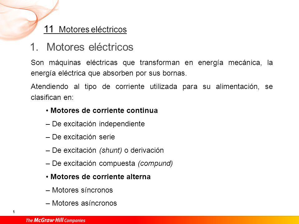 Todos los motores de corriente continua así como los síncronos de corriente alterna tienen una utilización y unas aplicaciones muy específicas.