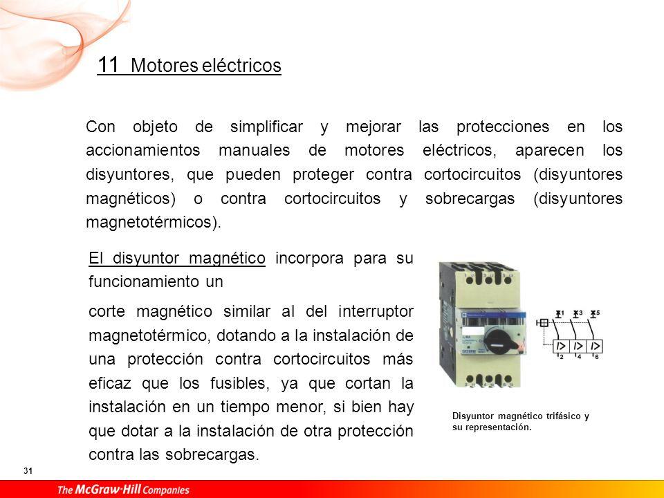 El disyuntor magnetotérmico, también llamado disyuntor motor, aporta una protección mucho más eficaz a las instalaciones de alimentación de motores eléctricos, ya que proporciona el corte magnético para proteger los posibles cortocircuitos.