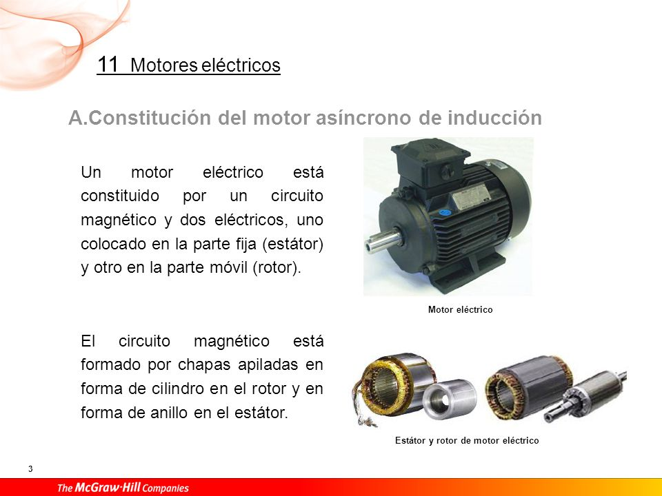 Sección de motor eléctrico