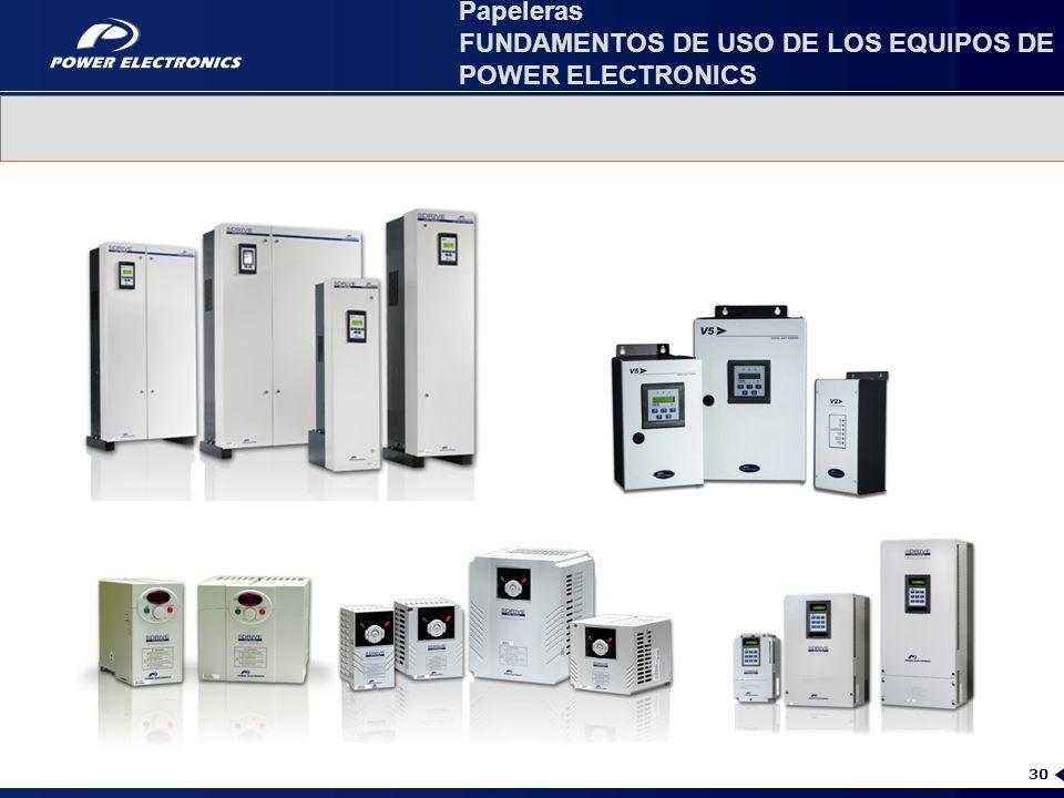 Papeleras FUNDAMENTOS DE USO DE LOS EQUIPOS DE POWER ELECTRONICS