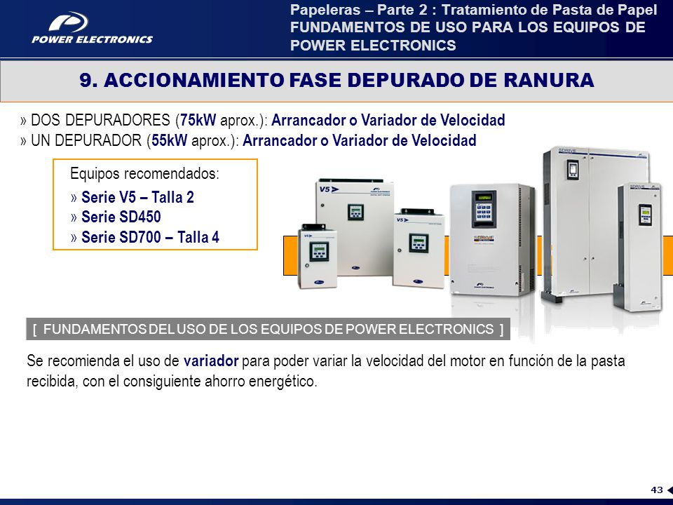 9. ACCIONAMIENTO FASE DEPURADO DE RANURA