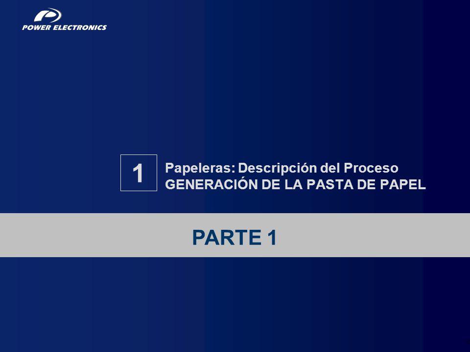 Papeleras: Descripción del Proceso GENERACIÓN DE LA PASTA DE PAPEL
