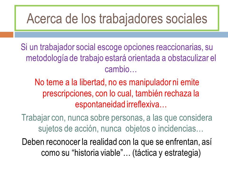 Acerca de los trabajadores sociales