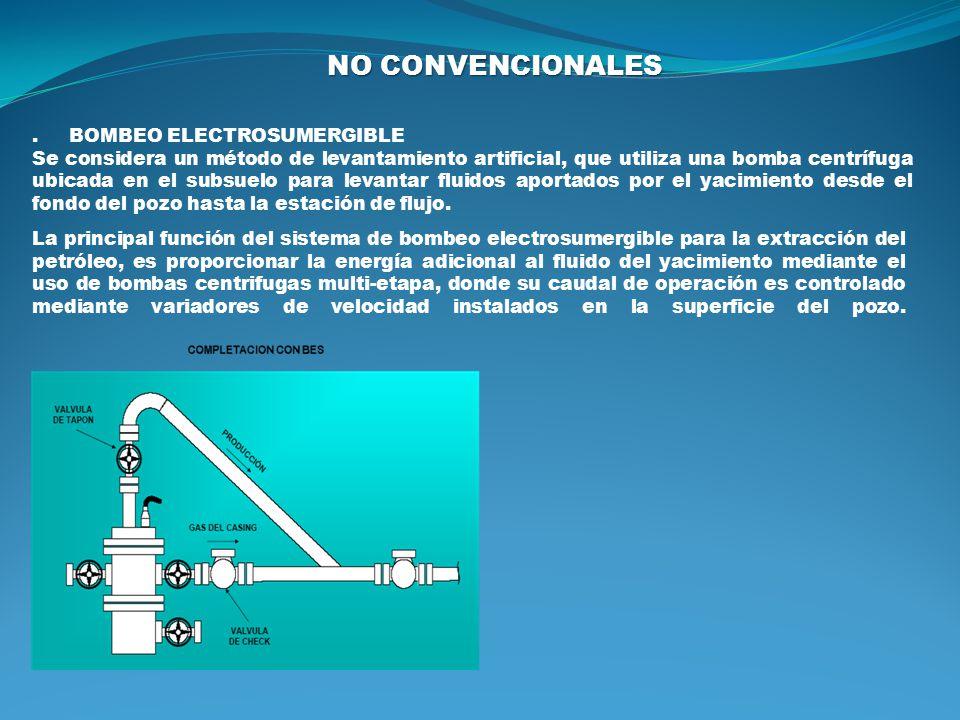 NO CONVENCIONALES . BOMBEO ELECTROSUMERGIBLE