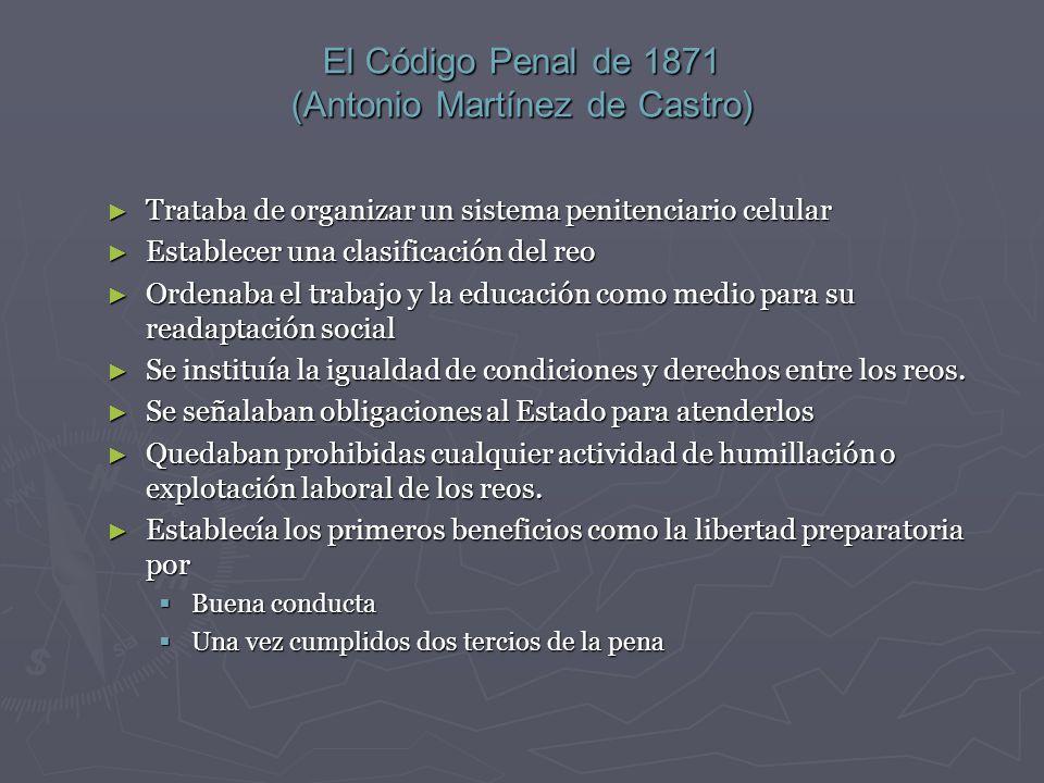 El Código Penal de 1871 (Antonio Martínez de Castro)