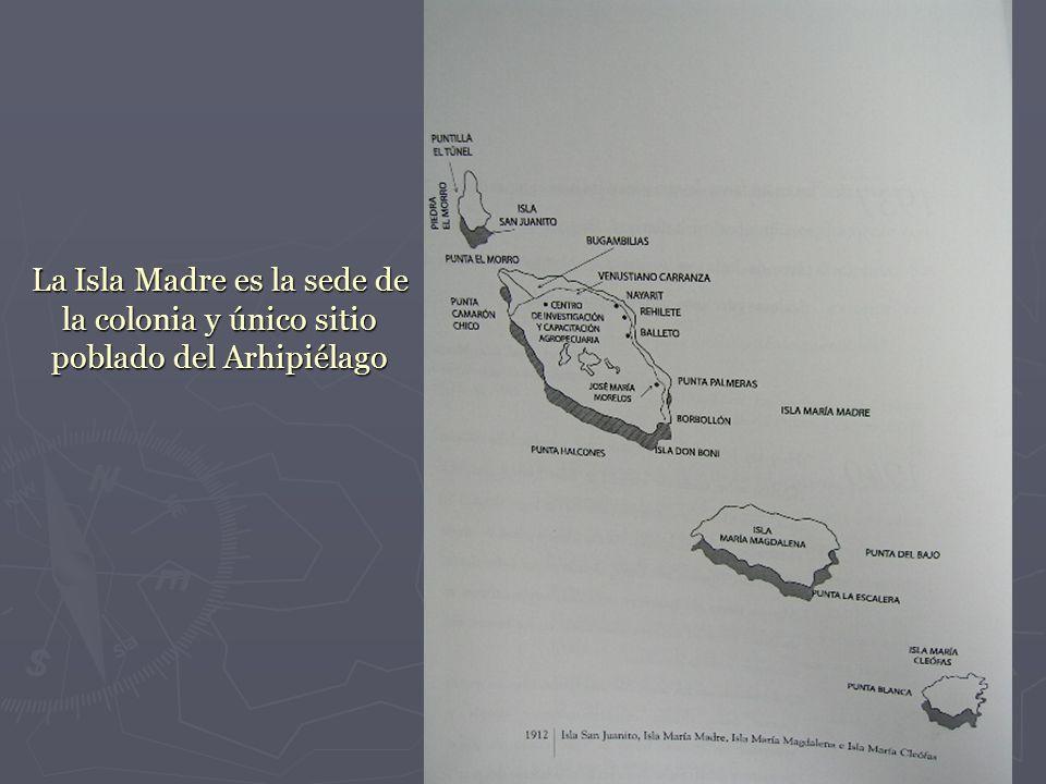 La Isla Madre es la sede de la colonia y único sitio poblado del Arhipiélago