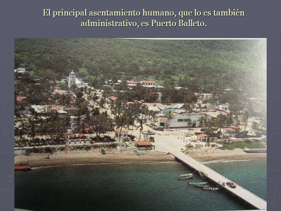 El principal asentamiento humano, que lo es también administrativo, es Puerto Balleto.