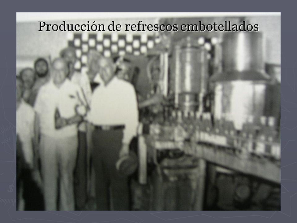 Producción de refrescos embotellados