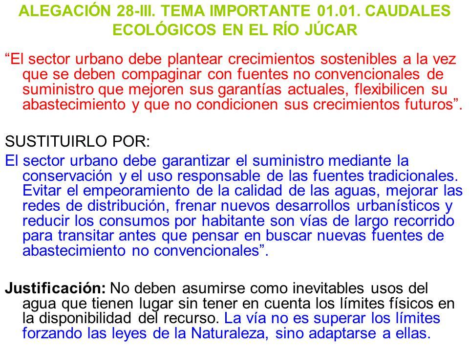 ALEGACIÓN 28-III. TEMA IMPORTANTE 01. 01