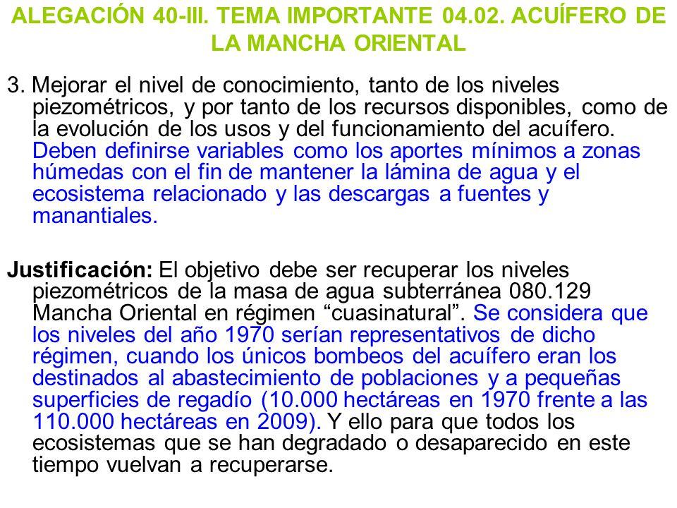 ALEGACIÓN 40-III. TEMA IMPORTANTE 04. 02