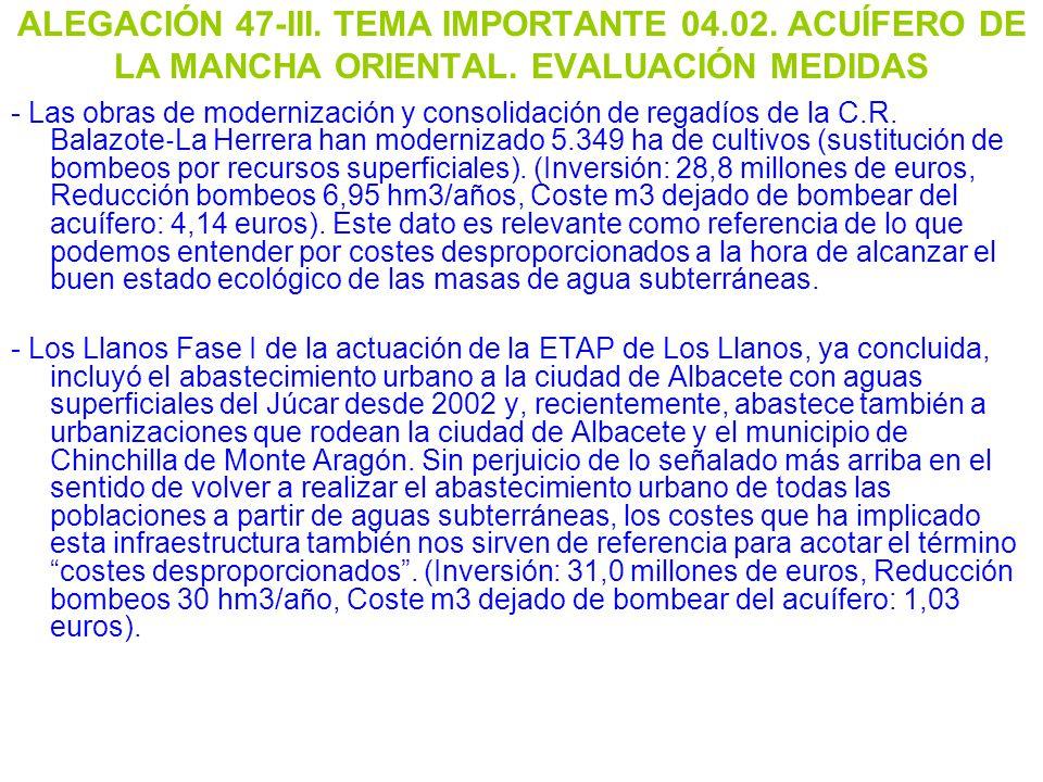 ALEGACIÓN 47-III. TEMA IMPORTANTE 04. 02