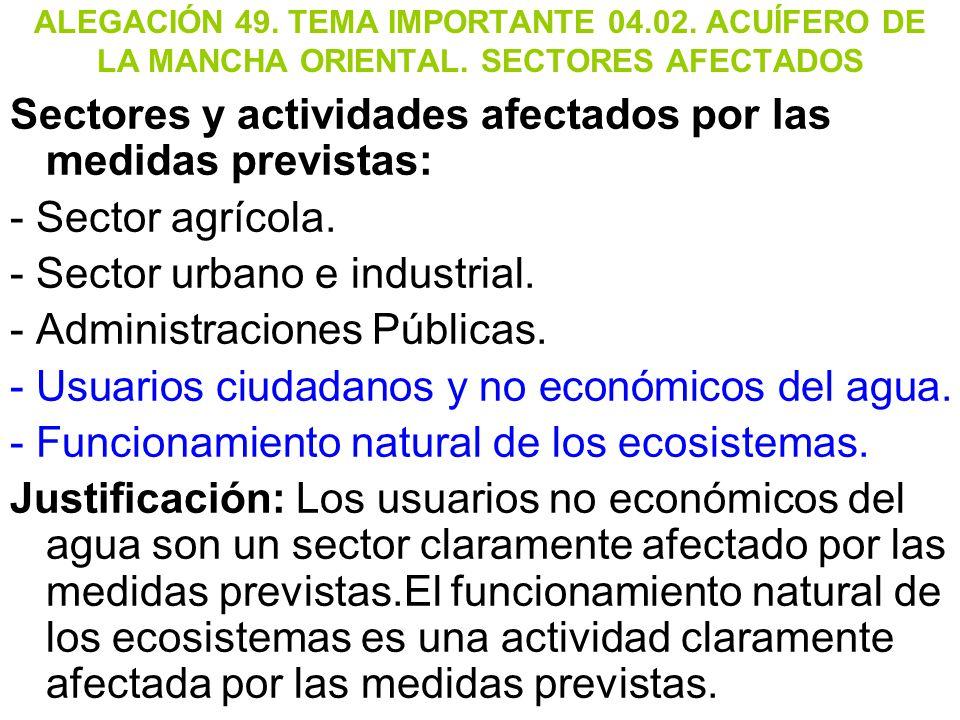 Sectores y actividades afectados por las medidas previstas: