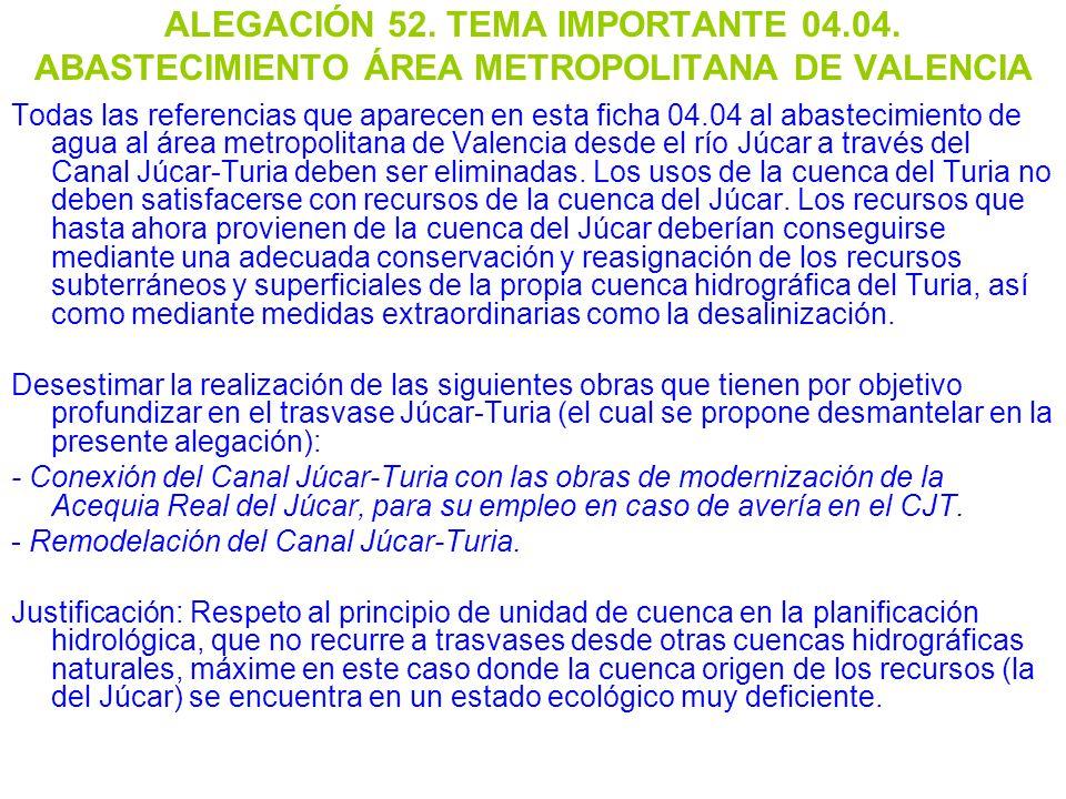 ALEGACIÓN 52. TEMA IMPORTANTE 04. 04