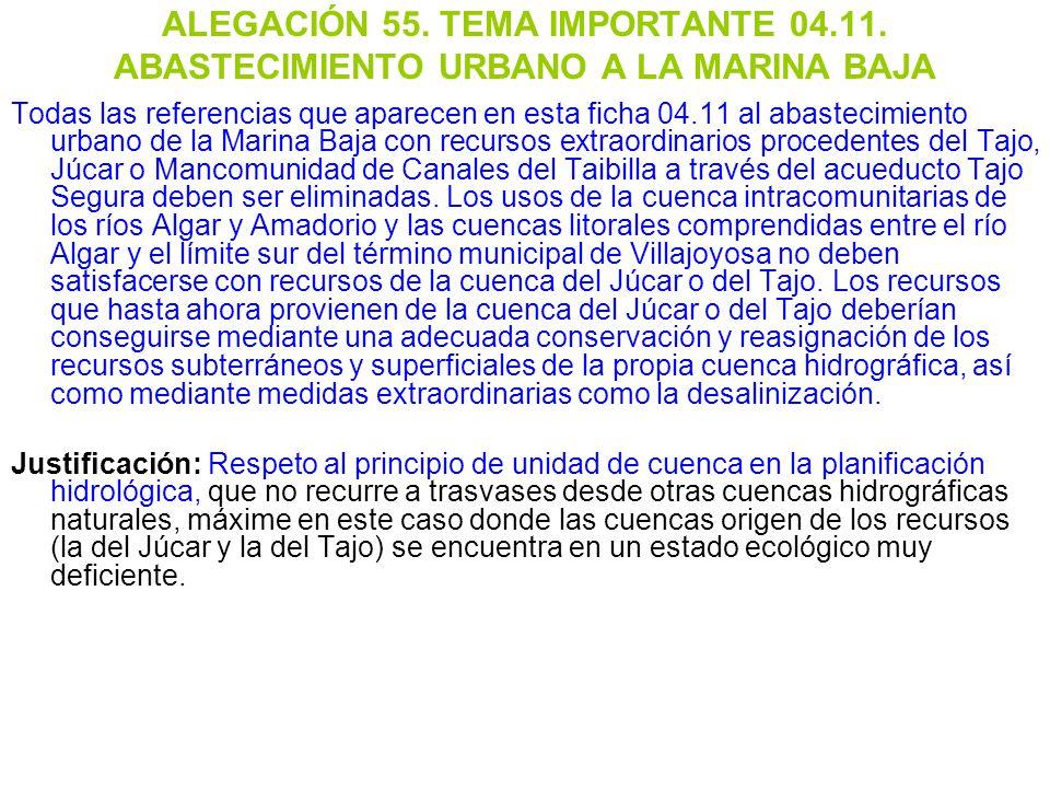 ALEGACIÓN 55. TEMA IMPORTANTE 04. 11