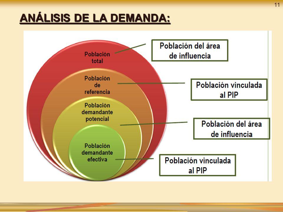 ANÁLISIS DE LA DEMANDA: