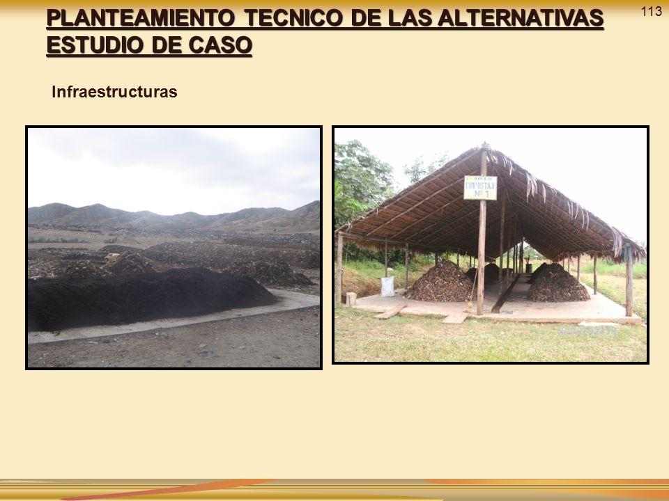 PLANTEAMIENTO TECNICO DE LAS ALTERNATIVAS ESTUDIO DE CASO