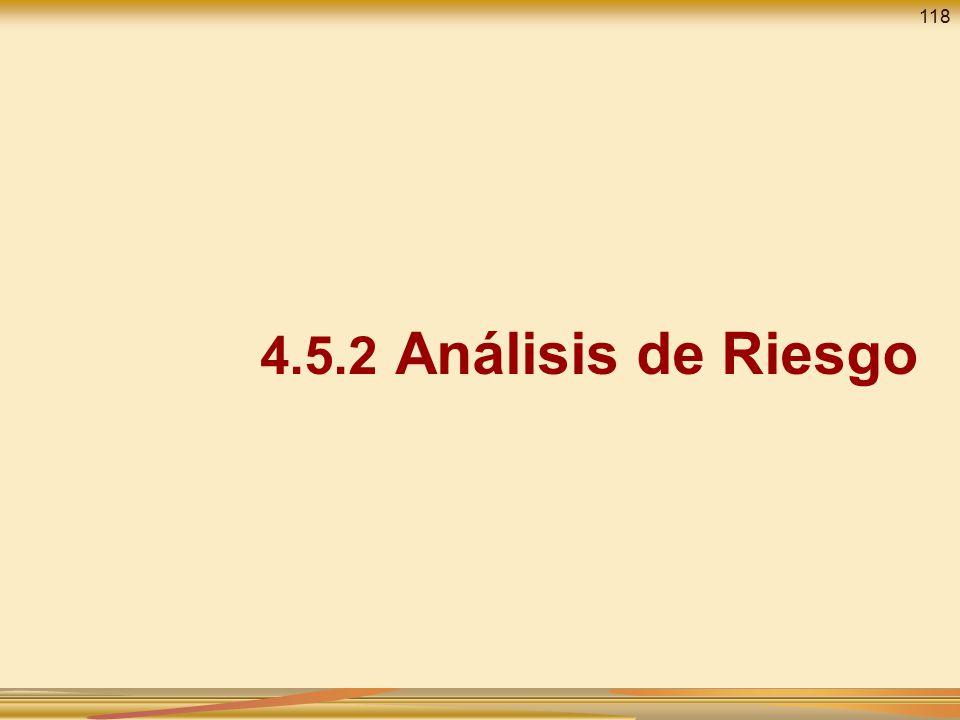 118 4.5.2 Análisis de Riesgo