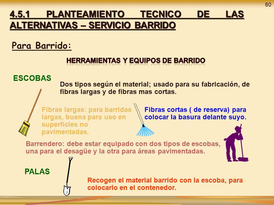 HERRAMIENTAS Y EQUIPOS DE BARRIDO
