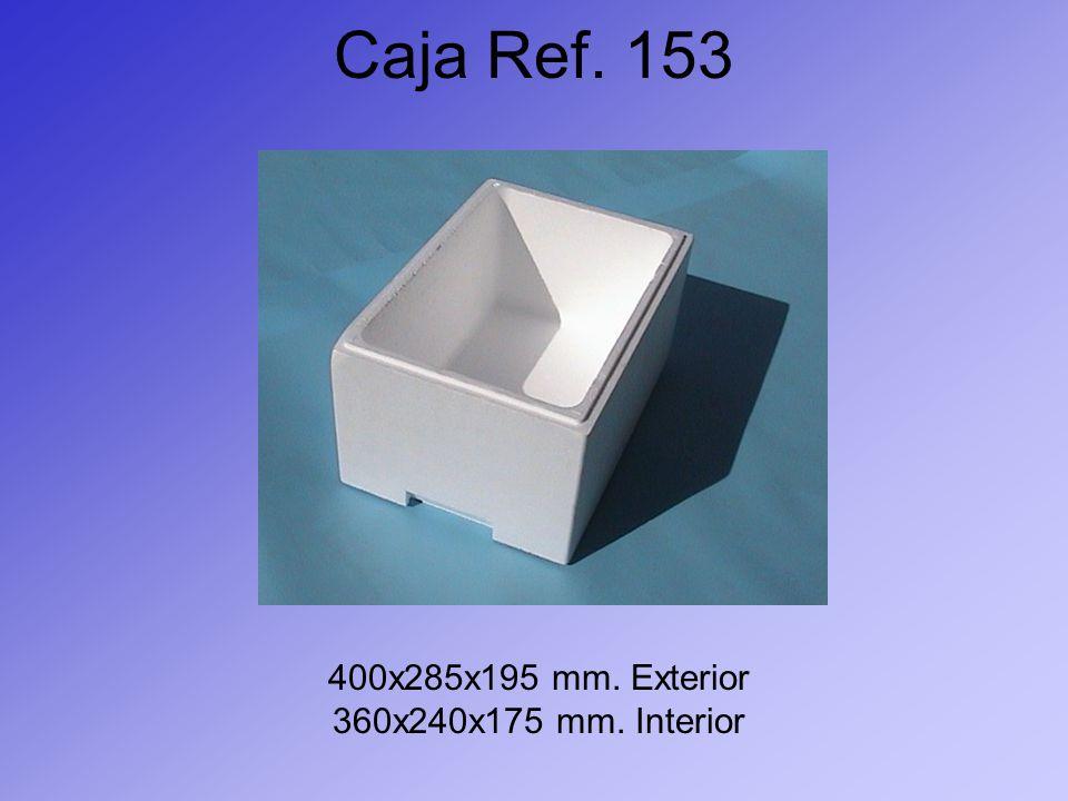 Caja Ref. 153 400x285x195 mm. Exterior 360x240x175 mm. Interior