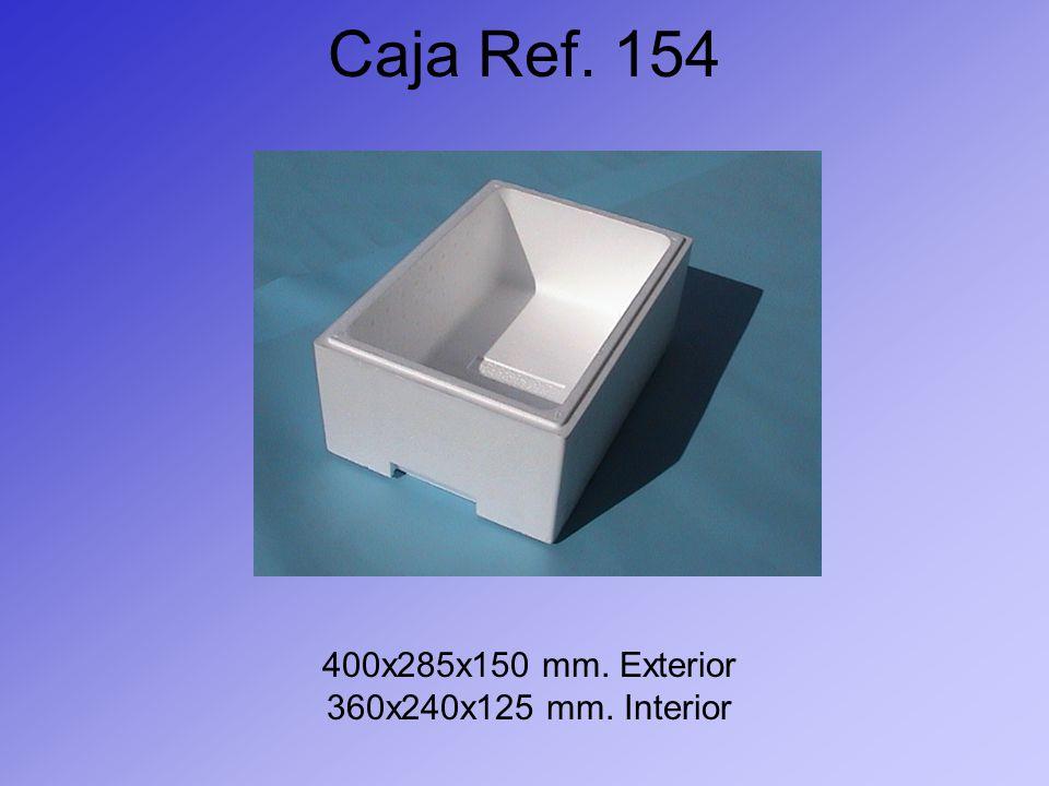 Caja Ref. 154 400x285x150 mm. Exterior 360x240x125 mm. Interior